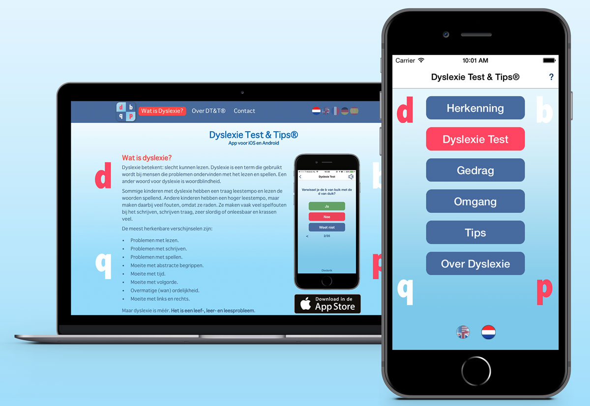 App + website Dyslexie Test & Tips
