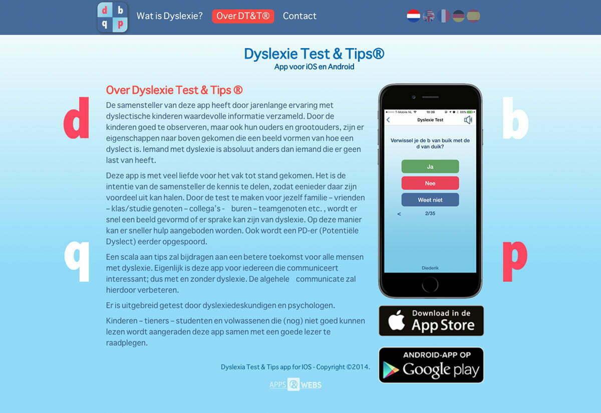 Website Dyslexie Test & Tips
